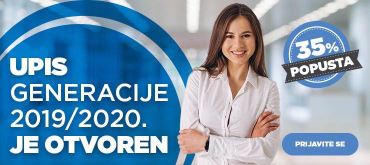 Upis u generaciju 2019/2020. na BusinessAcademy je otvoren!